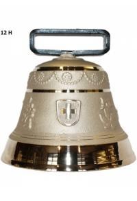 Nr. 12 - Echte Glocke Bronze zum Gebrauch (mit Riemen)