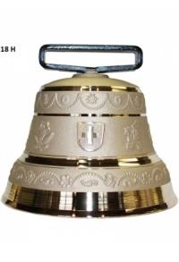 Nr. 18 - Echte Glocke Bronze zum Gebrauch (mit Riemen)