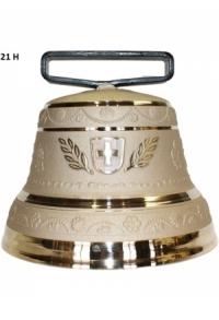 Nr. 21 - Echte Glocke Bronze zum Gebrauch (mit Riemen)