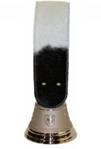 Echte Glocke Bronze mit Riemen Kuhfell Holstein, Nr. 9