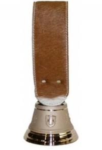 Echte Glocke Bronze mit Riemen Kuhfell Simmental, Nr. 10
