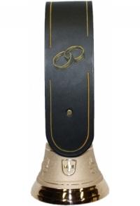 Echte Glocke Bronze mit geschnitztem Riemen Ringe gold, Nr..