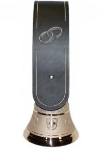Echte Glocke Bronze mit geschnitztem Riemen Ringe silber, ..