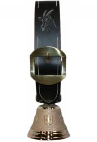 Echte Glocke Bronze mit geschnitztem Riemen Bock, Nr. 9