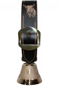 Echte Glocke Bronze, Riemen Geiss, 19 cm